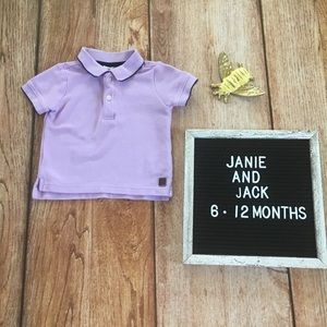 Janie And Jack Lavender Polo Shirt 6-12 months